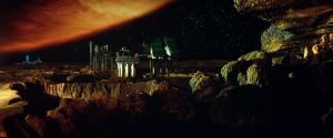 """Júpiter visto da colónia mineira em Io em """"Outland: Atmosfera Zero"""""""