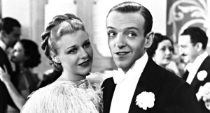 Ginger Rogers e Fred Astaire em 'Top Hat'