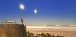"""Visualização de Ralph McQuarrie para um momento de """"A Guerra das Estrelas"""""""