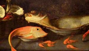Pormenor de pintura de Josefa de Óbidos
